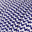 Cabo elétrico redondo revestido por tecido de seda artificial ZigZag RZ12 Azul