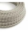Cabo elétrico torcido com seda artificial aplicada tecido de cor sólida TM00 Marfim