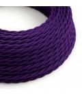 Cabo elétrico torcido com seda artificial aplicada tecido de cor sólida TM14 Violeta
