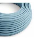 Cabo elétrico redondo com seda artificial aplicada cor de tecido sólida RM17 bebé Azul-Celeste