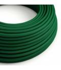 Cabo elétrico redondo com seda artificial aplicada cor de tecido sólida RM21 Verde Escuro