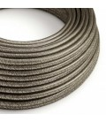 cabo elétrico redondo brilhante com seda artificial aplicada cor de tecido sólida RL03 Cinzento