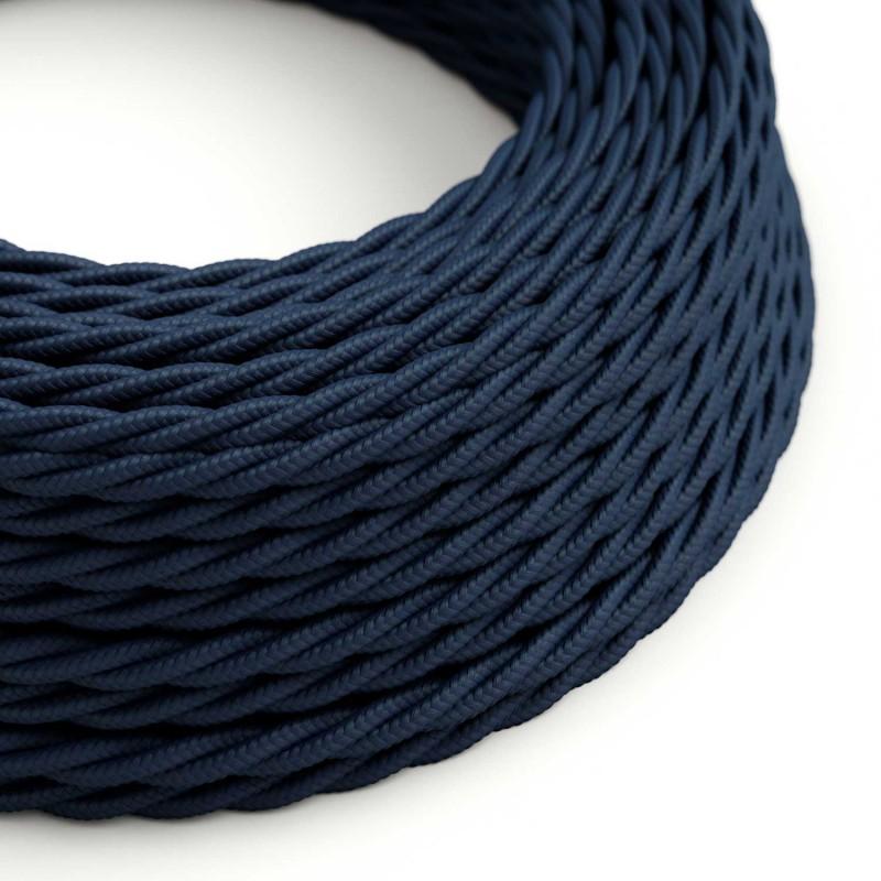 Cabo elétrico Flex para iluminação com tecido entrelaçado TM20 Azul Escuro