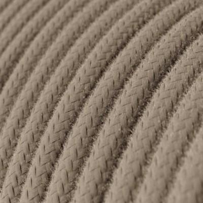 Cabo elétrico redondo revestido por tecido de algodão de cor sólida RC43 Cor de Pombo