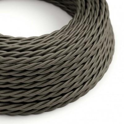 Cabo elétrico trançado em seda artificial cor sólida TM26 Cinza Escuro