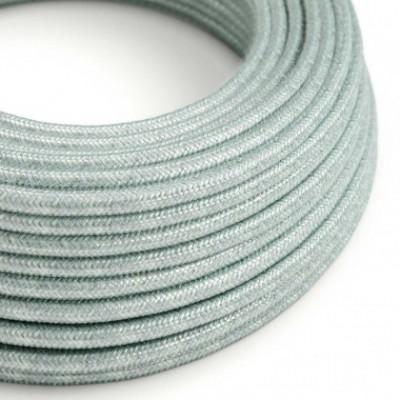 Cabo elétrico redondo coberto de algodão - Azul Haze RX12