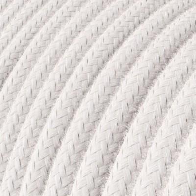 Cabo elétrico redondo revestido por tecido de Algodão RC16 Rosa Pálido