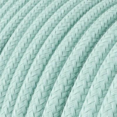Cabo elétrico redondo revestido por tecido de Algodão RC18 Verde Céladon