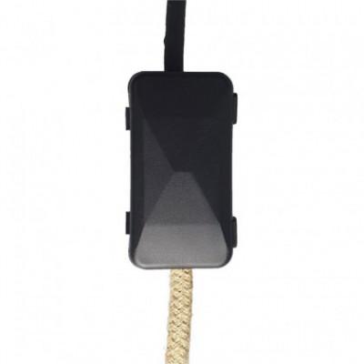 Kit de ligação com caixa de proteção de cabos e duas braçadeiras de cabo