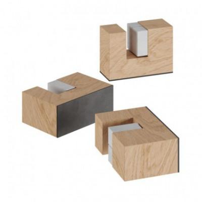Kit de pés em madeira para suporte de candeeiro de mesa