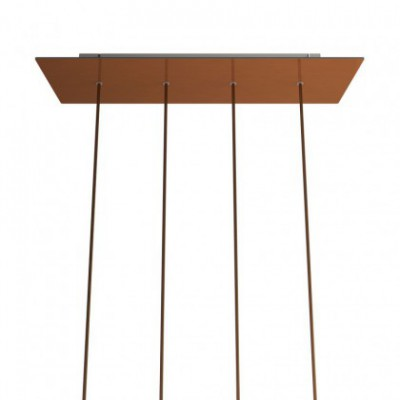 Kit de rosácea de teto retangular Rose-One XXL em linha de 4 furos, 675 x 225 mm