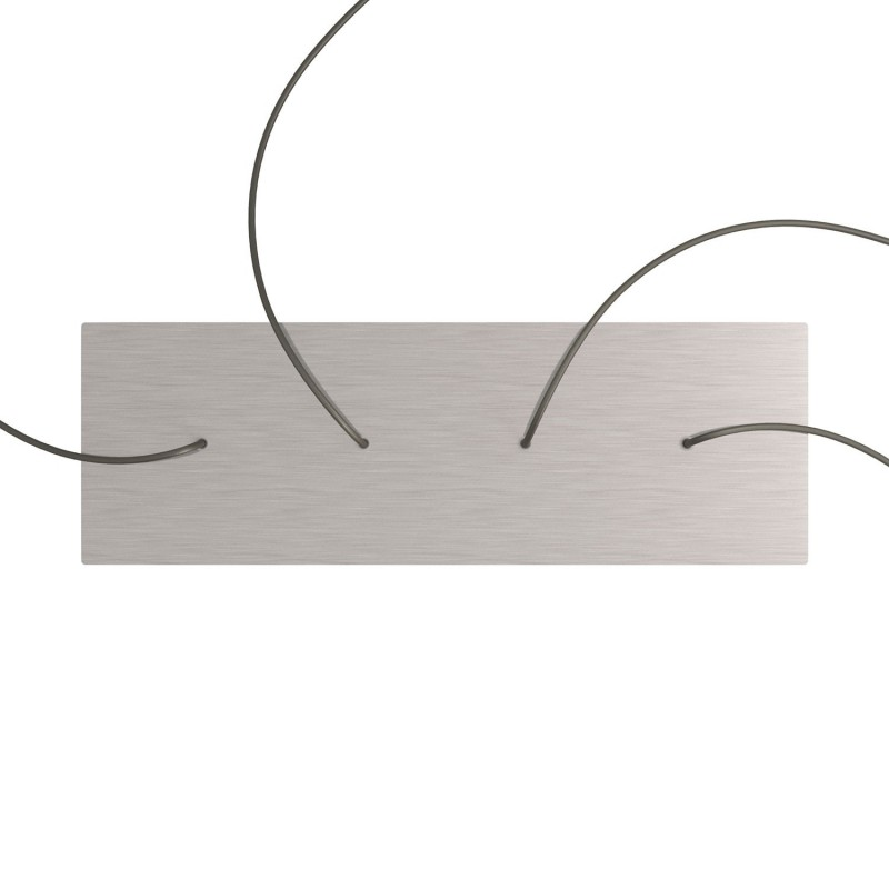 Rectangular XXL Rose-One in line 4 hole ceiling rose kit, 675 x 225 mm Cover