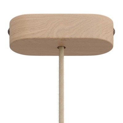 Kit de rosácea de teto oval em madeira