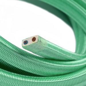 Cabo elétrico para cordão de luzes, coberto por tecido Seda Opal CH69