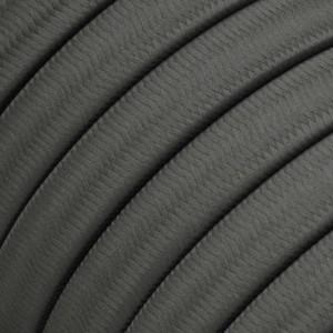 Cabo elétrico para cordão de luzes, coberto por tecido Seda Cinzento CM03