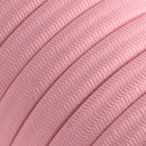 Cabo elétrico para cordão de luzes, coberto por tecido Seda Rosa Bebé CM16