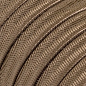 Cabo elétrico para cordão de luzes, coberto por tecido Seda Cipria CM27