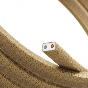 Cabo elétrico para cordão de luzes, coberto por tecido Juta CN06