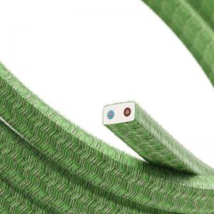 Cabo elétrico para Cordão de Luzes, coberto por tecido de Algodão Pixel Bronte CX08
