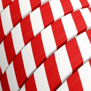 Cabo elétrico para Cordão de Luzes Vertigo HD, coberto por tecido Candy Cane ECM39