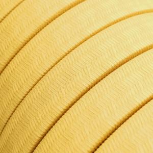 Cabo elétrico para Cordão de Luzes, coberto por tecido de Algodão Amarelo CM10