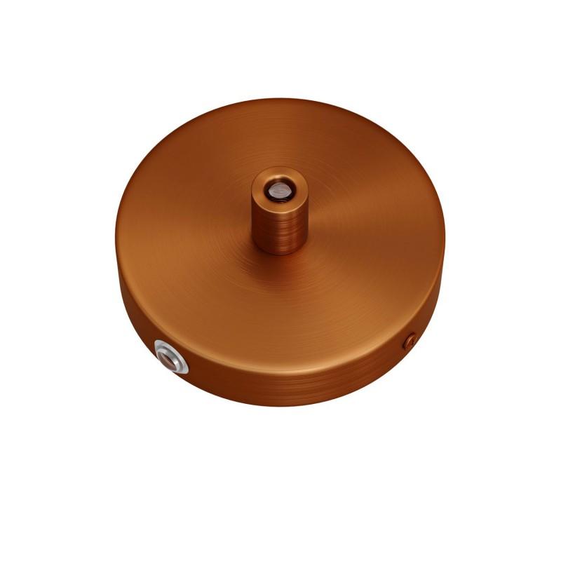 Kit de rosácea de teto Mini cilíndrica em metal com 1 furo central + 4 furos laterais