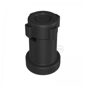Casquilho termoplástico E27 preto para cordão de luzes