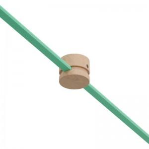 Kit de guia de parede em madeira para cordão de luzes e sistema Filé. Fabricado em Itália