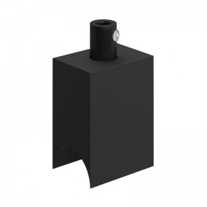 Syntax - Suporte de lâmpada termoplástico Minimal Preto para lâmpadas de tubo S14d