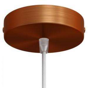Kit de rosácea de teto cilíndrica em metal