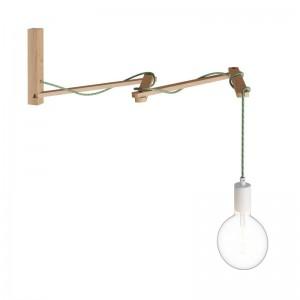 Pinocchio XL, suporte de parede ajustável em madeira para candeeiros de parede