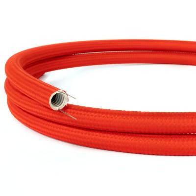 Tubo Flexivel Creative-Tube, coberto por tecido seda artificial Vermelho RM09, diametro 20 mm