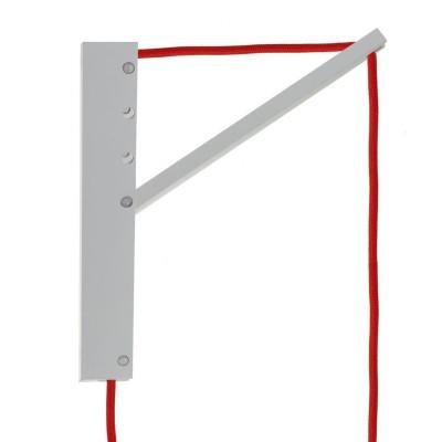 Pinocchio, suporte de parede em madeira ajustável para candeeiros suspensos