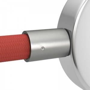 Terminal de cabo em metal zincado para Creative-Tube com 20 mm, acessórios incluídos