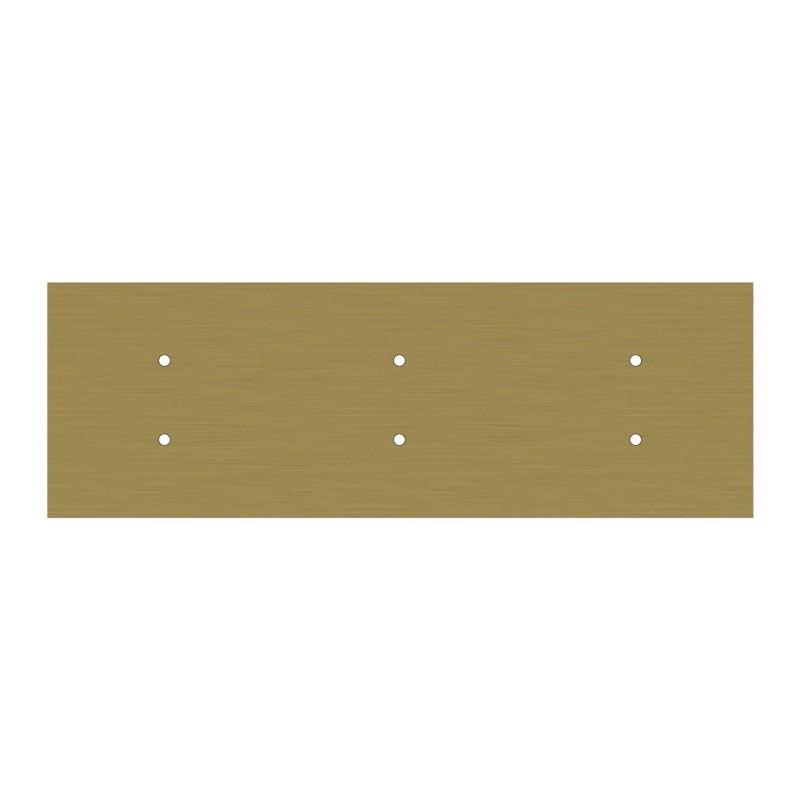 Suspensão de 6 pêndulos com Rose-One XXL retangular de 675 mm, com cabo em tecido e acabamentos em metal