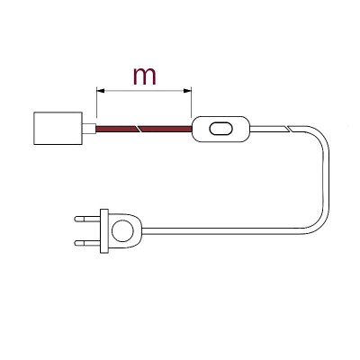 Interruptor de distância - suporte da lâmpada