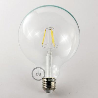 Lâmpada LED decorativa vintage com filamento 4W Globe XL G125 Clear luz quente