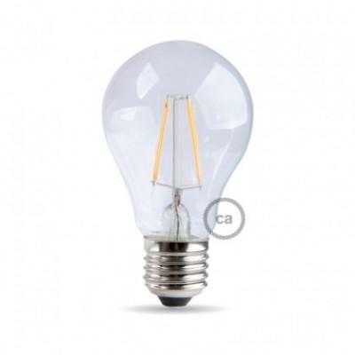 Lâmpada Led Dimável com filamento em forma de Gota 8W E27 Transparente