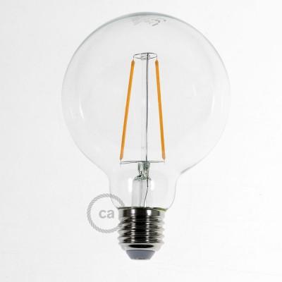 Lâmpada Transparente LED - Globe G95 Filamento Longo 4W Decorativo Vintage 2200K
