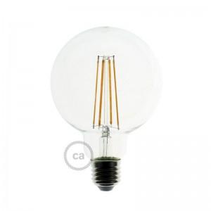 Lâmpada Transparente LED - Globe G95 Filamento Longo - 7.5W E27 Decorative Vintage Dimável 2200K