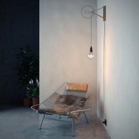 Pinóquio: suporte de parede em madeira ajustável que é um conto de fadas.